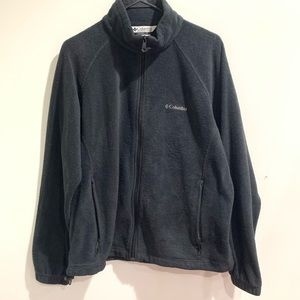 Columbia black fleece jacket, XL